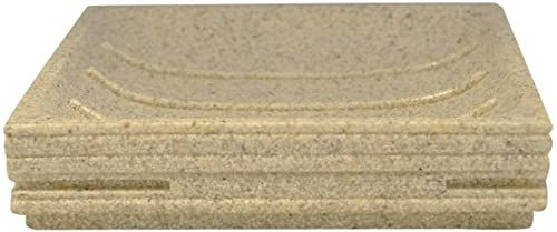 Grund BRICK mydelniczka 11,6 x 11,6 x 2,6 cm ecru Accessoires, 100% żywica poliestrowa, 6 x 11,6 x 2,6 cm