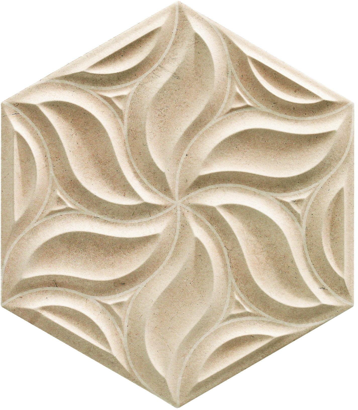 Habitat Ivy Greige 28,5x33 płytka ścienna heksagonalna