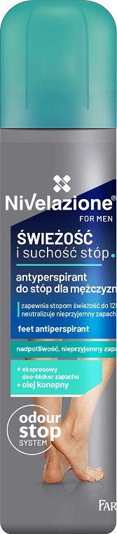 NIVELAZIONE for men Antyperspirant do stóp dla mężczyzn 180ml