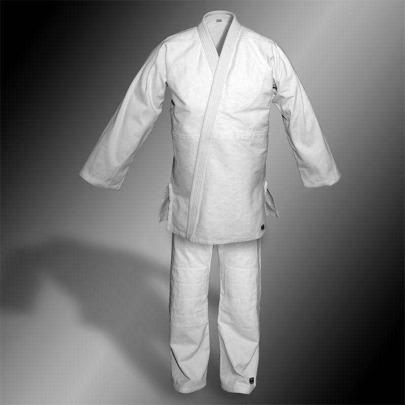kimono do judo TONBO - STANDARD, białe, 580g/m2 (z białym pasem)