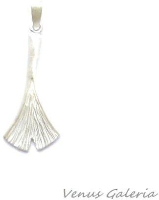 Wisiorek srebrny - Ginko II mini biały