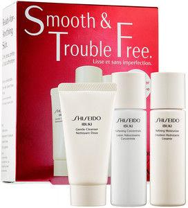 Shiseido Ibuki Gentle Cleanser Pianka oczyszczająca 30ml + Refining Moisturizer Emulsja silnie nawilżająca do twarzy 30ml + Softening Concentrate Lotion tonik do twarzy - 30ml Do każdego zamówienia upominek gratis.