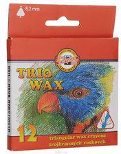 Koh i noor Kredki Trio Wax Woskowe 8,2mm 12 kol