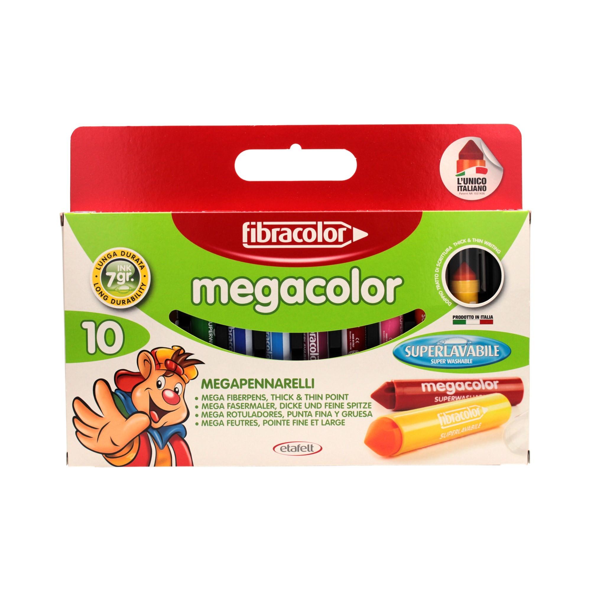 Flamastry 10kol MegaColor Fibracolor 950