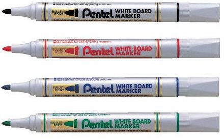 Marker suchościeralny Pentel MW85 - niebieski