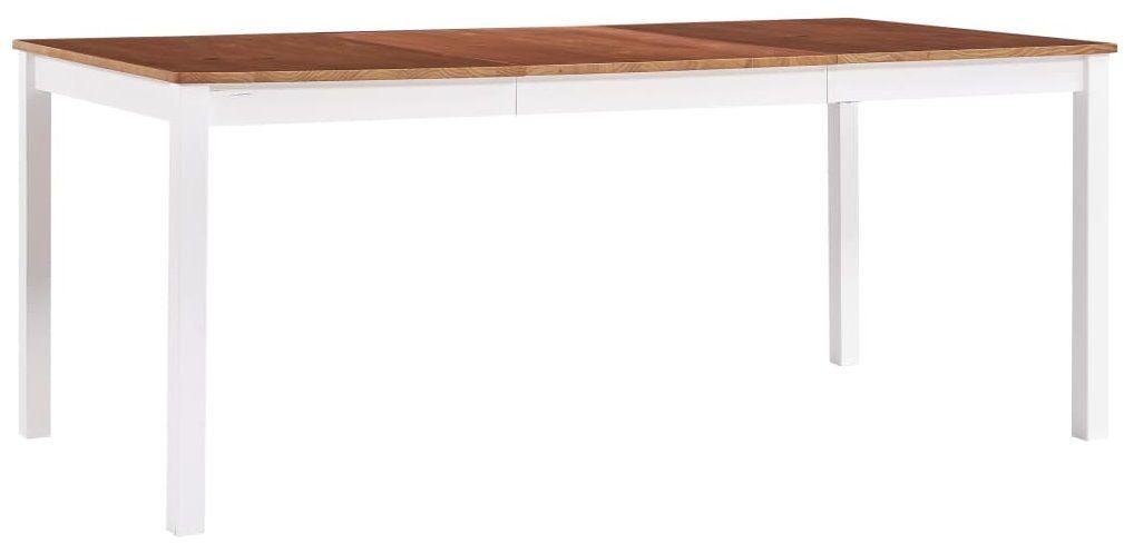 Stół klasyczny drewniany Elmor 3X  biało-brązowy
