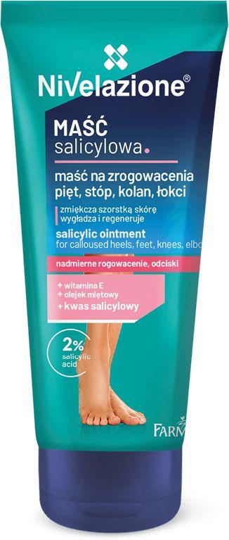 NIVELAZIONE Maść salicylowa na zrogowacenia pięt, stóp, kolan, łokci 75 ml