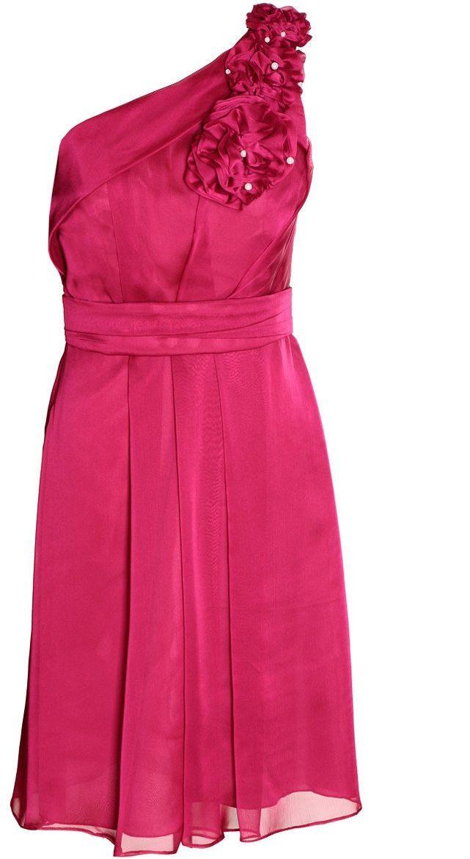 Sukienka FSU987 RUBINOWY