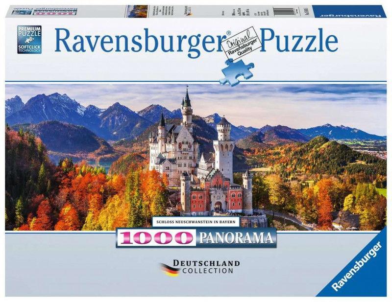 Puzzle 1000 elementów Panorama Zamek w Bawarii (GXP-761329)