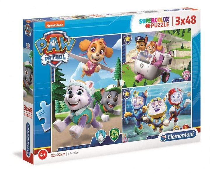Puzzle 3x48 Paw Patrol - Clementoni