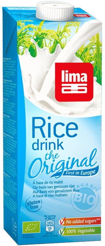 Napój ryżowy bezglutenowy bio 1 l - lima