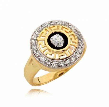 Złoty pierścionek N327
