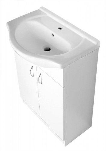 Szafka 58,5x83x30,7 cm umywalkowa z umywalką , BIAŁA