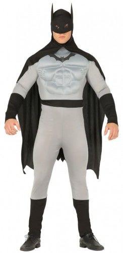 Kostium dla mężczyzny Człowiek Nietoperz szary z muskułami