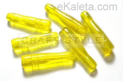 Wałeczki żółte przeźr. ok. 33x8mm - 6szt