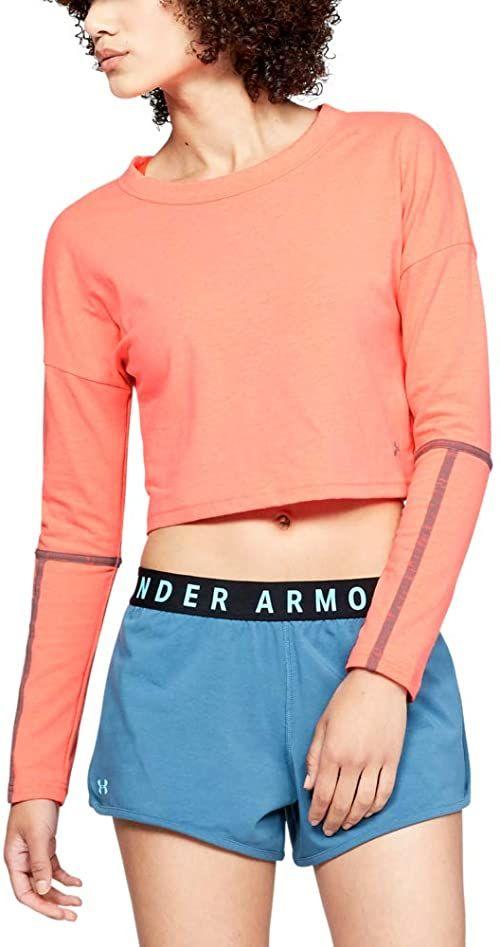 Under Armour damska koszulka z długim rękawem z długim rękawem After Burn/Steel XL