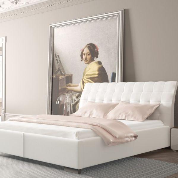 Łóżko MADISON PRESTIGE NEW DESIGN tapicerowane, Rozmiar: 120x200, Tkanina: Grupa I, Pojemnik: Bez pojemnika Darmowa dostawa, Wiele produktów dostępnych od ręki!