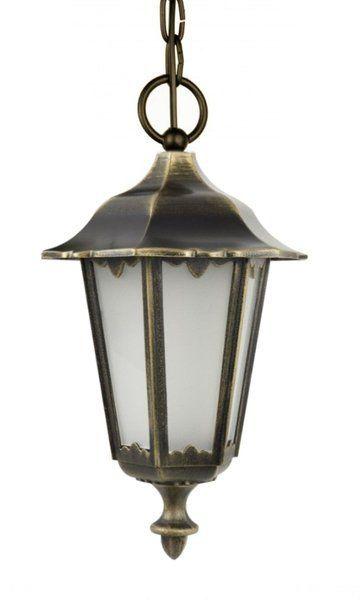 Lampa wisząca zewnętrzna Retro Classic K 1018/1/D mosiądz