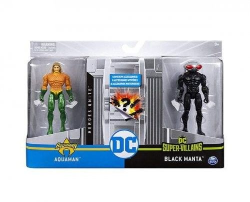 Zestaw z figurkami 4 Aquaman VS Black Manta 2 DC