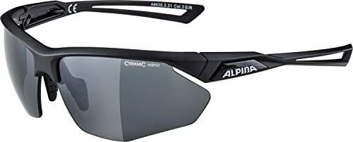 ALPINA Unisex - Dorośli, NYLOS HR Okulary sportowe, black matt/black, One Size