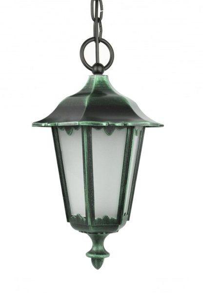 Lampa wisząca zewnętrzna Retro Classic K 1018/1/D zielony