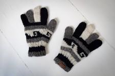 Rękawiczki wełniane wykonane ręcznie
