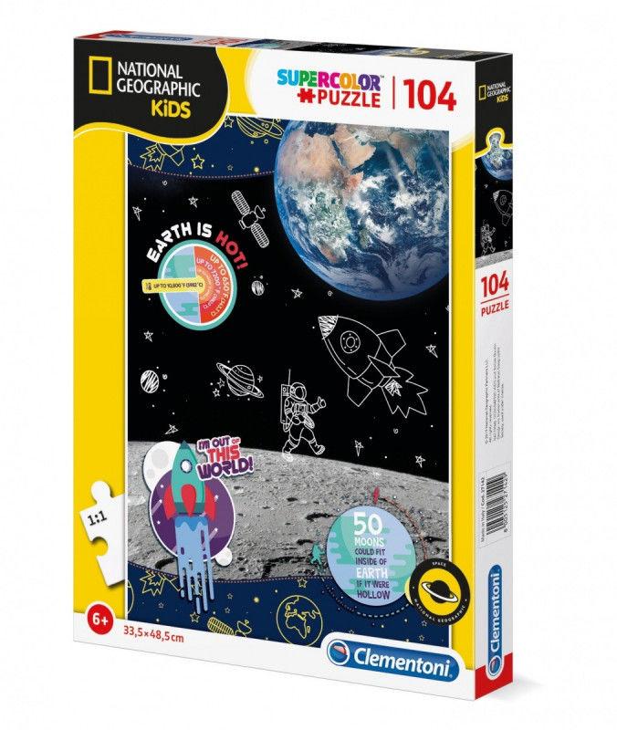 Puzzle 104 elementów National Kids Space Explorer