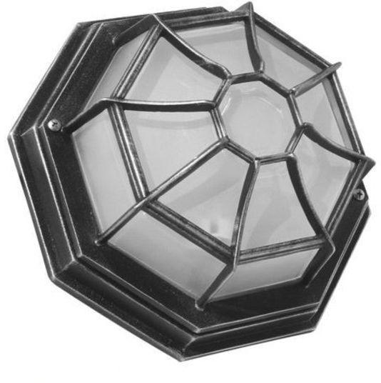 Lampa ścienna sufitowa zewnętrzna Retro Classic K 3012/P SZ srebrny