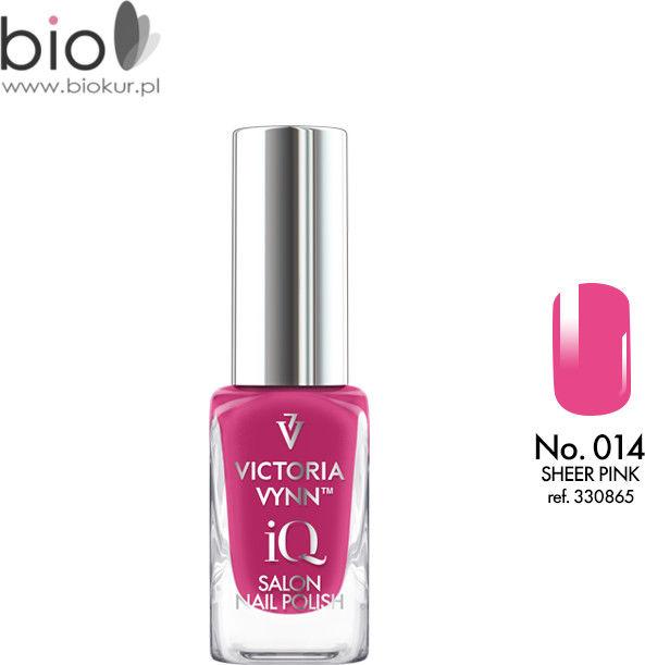 Lakier klasyczny Nail Polish iQ 014 SHEER PINK Victoria Vynn - 9 ml