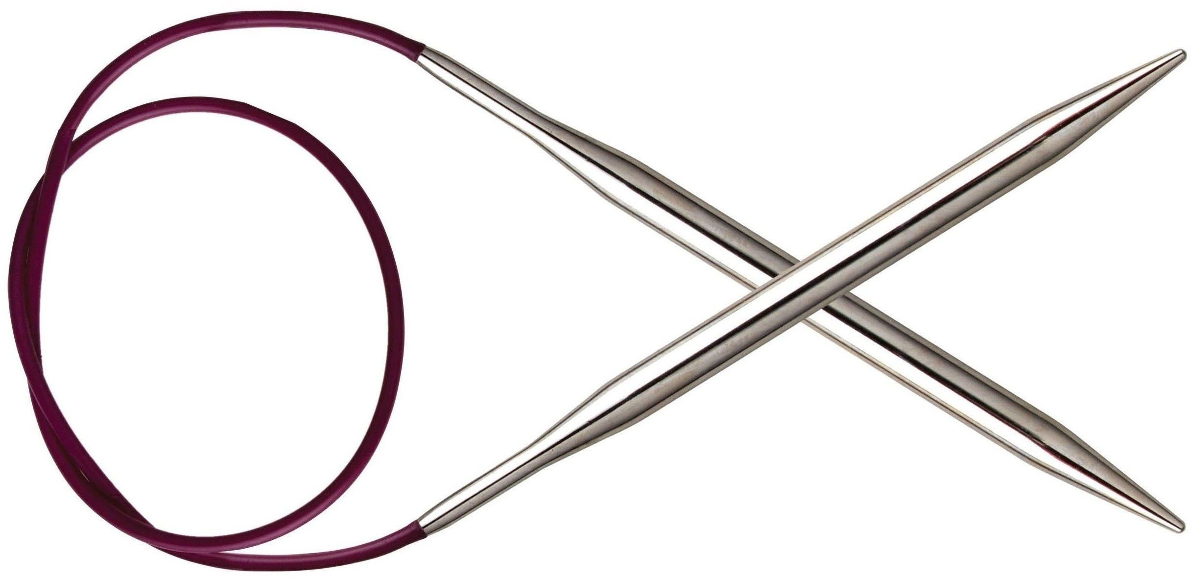 KnitPro Nova Metal: Szpilki dziewiarskie: Okrągły: Stały: 25 cm x 2,25 mm, galwanicznie pusty mosiądz, srebrny, 25 x 0,23 x 0,23 cm