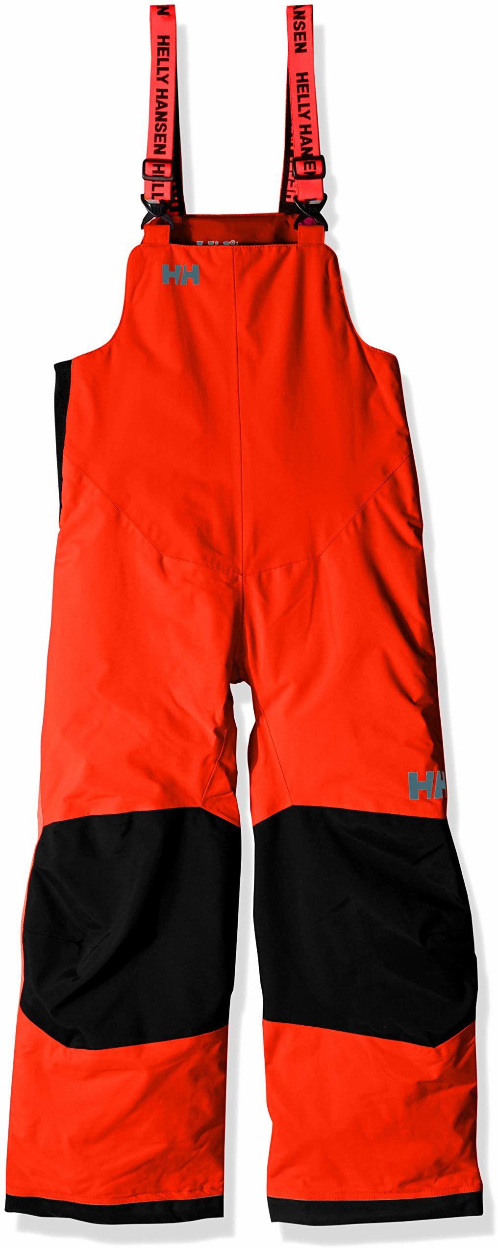 Helly-Hansen uniseks dziecięcy jeździec 2 izolowany śliniak jeździec 2 śliniak wodoodporne izolowane zimowe spodnie śnieżne kombinezony 278 Neon Orange 4
