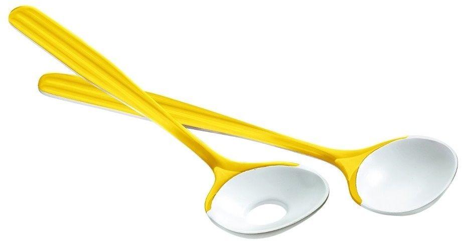 Komplet łyżek do sałatek mirage, żółty - żółty