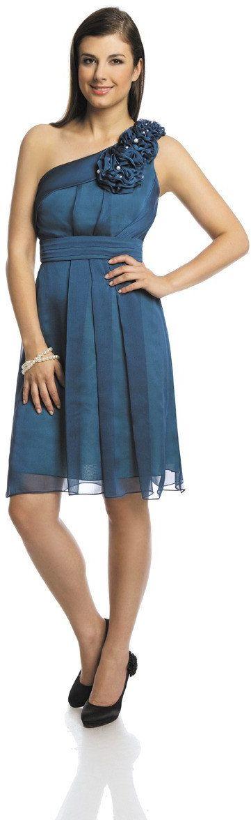Sukienka FSU987 ZIELONY MORSKI