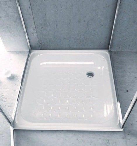 Brodzik prysznicowy emaliowany, kwadrat 70x70x12cm, biały