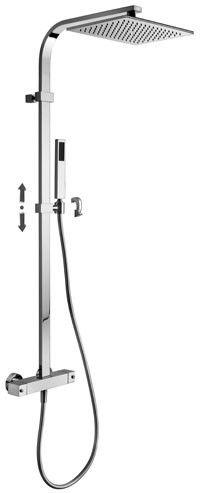 Paffoni CITY zestaw prysznicowy termostatyczny ZCOL665CR
