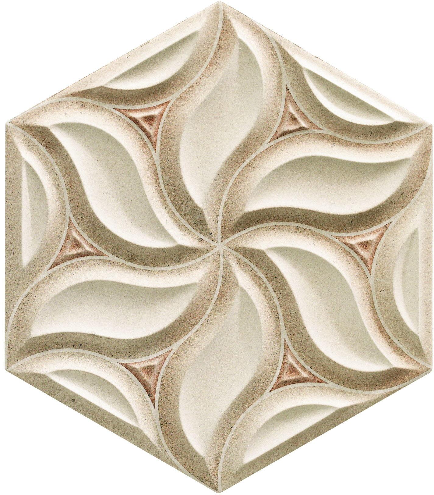 Habitat Ivy Sand 28,5x33 płytka ścienna heksagonalna