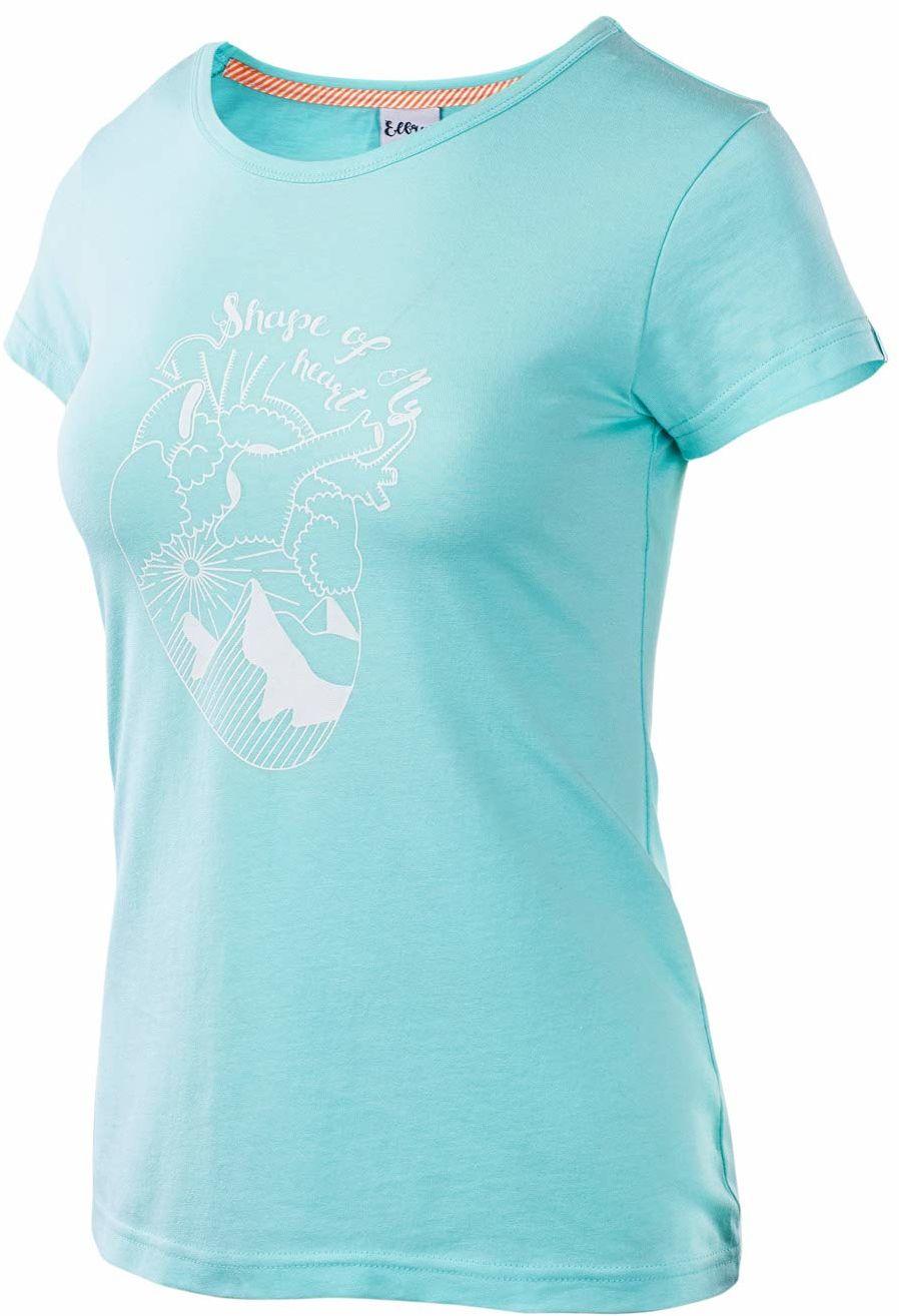 Elbrus damski T-shirt Corazon Wo''s turkusowy Island Paradise Melange/White X-S