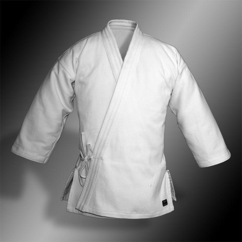 kimono do aikido TONBO - BAMBOO, białe, 580g/m2 - męskie