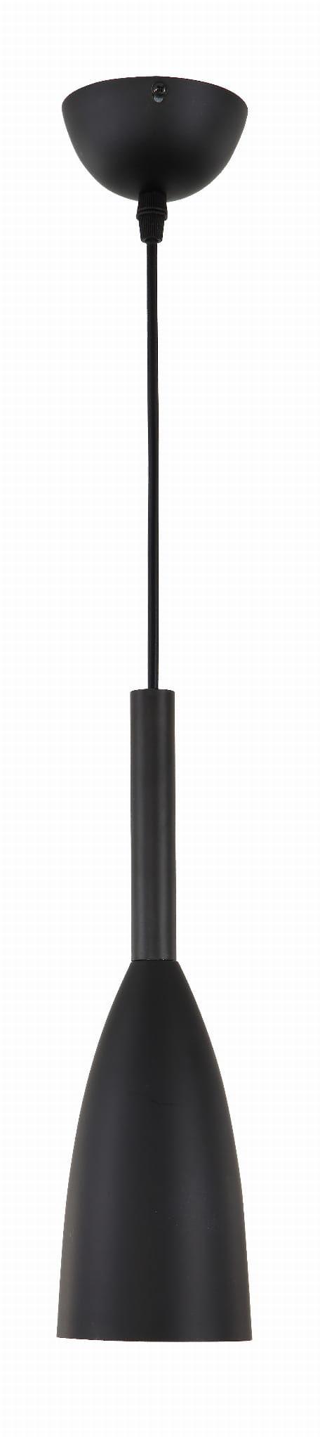 Light Prestige Solin LP-181/1P BK lampa wisząca czarna metalowa 1x60W E27 11cm