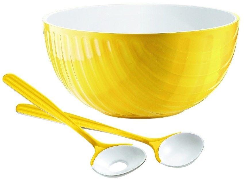 Komplet do sałatek mirage, czerwony - żółty