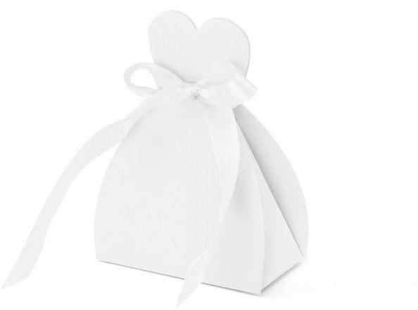 Pudełeczka Panna Młoda sukienka biała 10 szt PUDP1-K