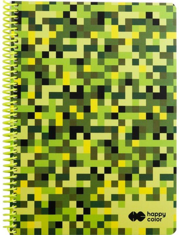 Kołobrulion A4 80k kratka PIXI zielony Happy Color 6418 HA 4742 2030-PI3