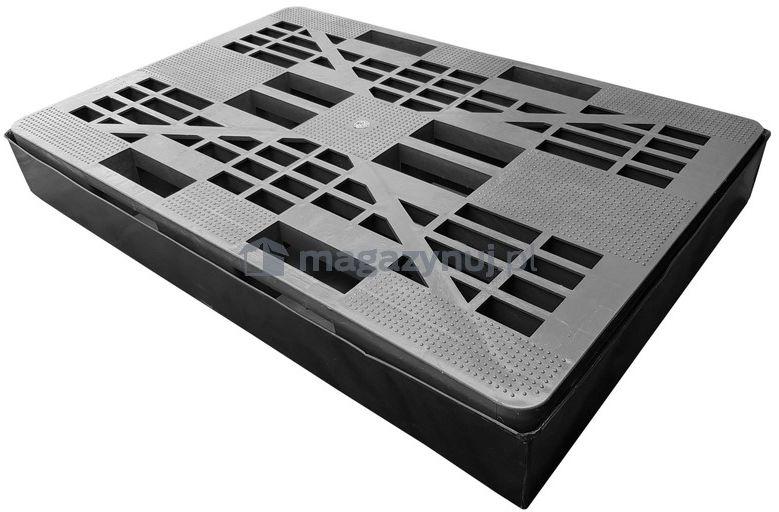 Wanna wychwytowa z kratownicą o pojemności 100 l, kolor czarny, wym. 1280 x 820 x 160 mm