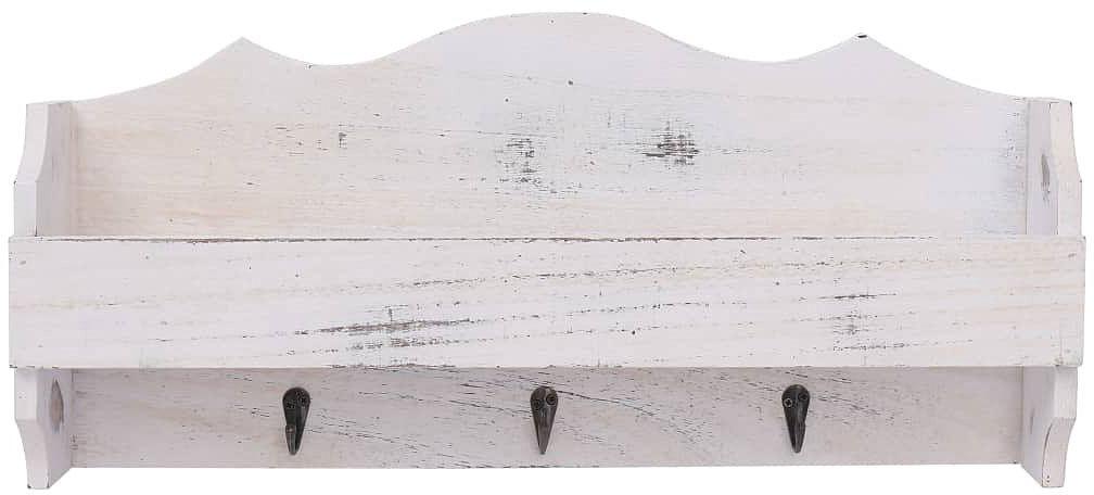 Wieszak ścienny z półką Mirelio - Biały