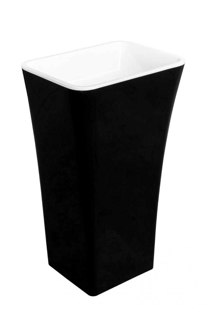 Besco Assos B&W umywalka wolnostojąca biało-czarna 40x50x85cm #UMD-A-WOBW