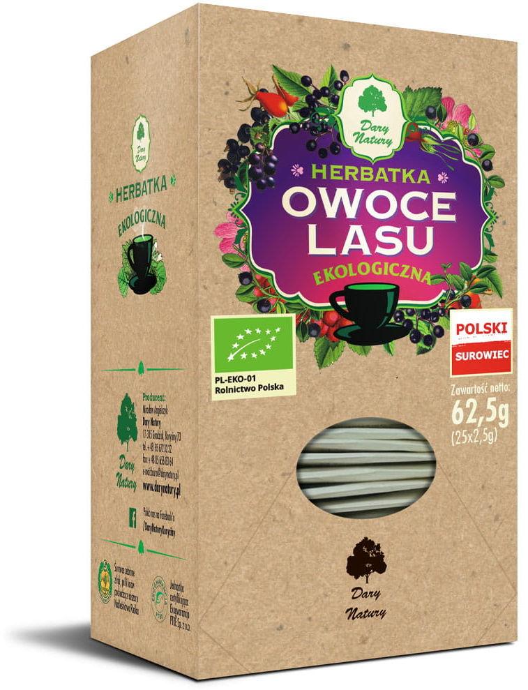 Herbatka owoce lasu bio 25 x 2,5 g - dary natury