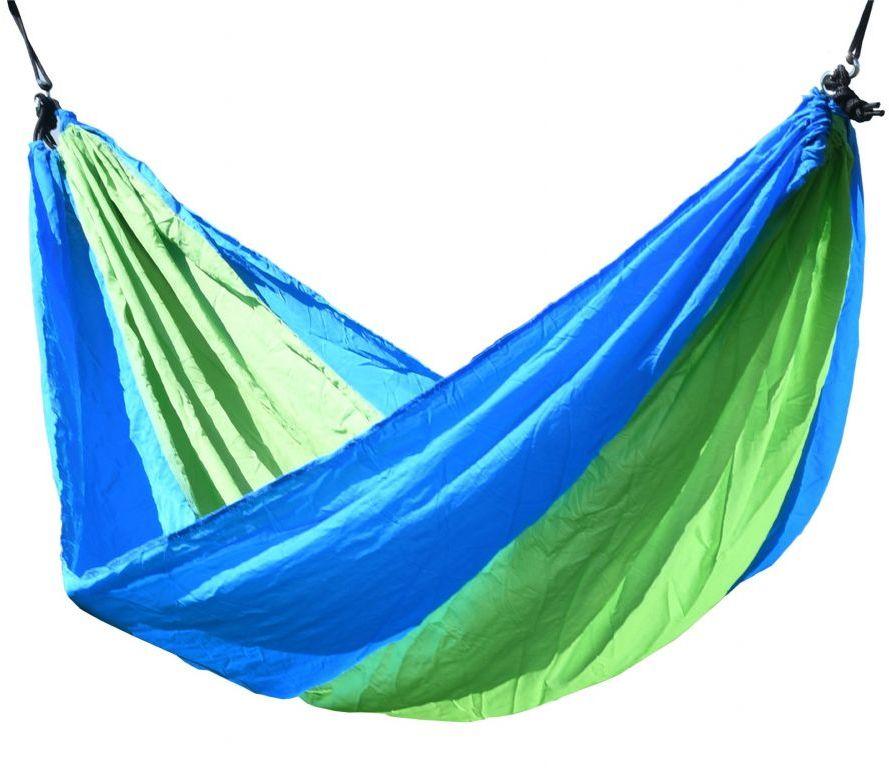 Hamak NYLON 275x137 cm zielono-niebieski