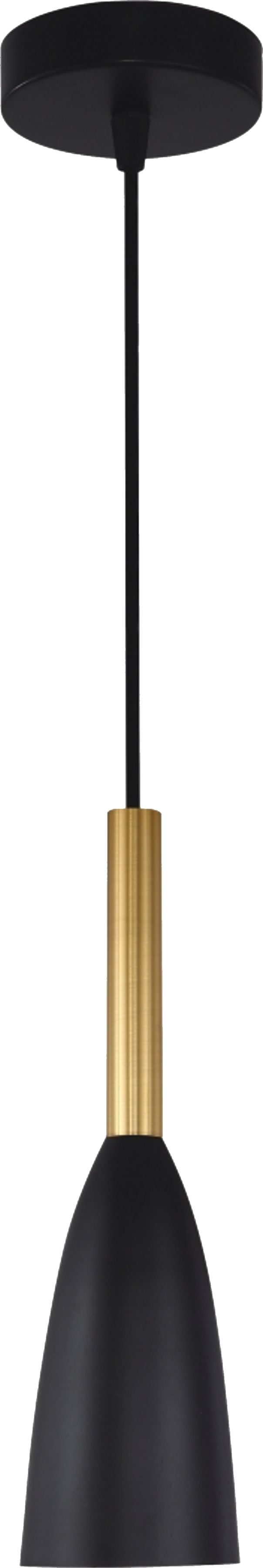 Light Prestige Solin LP-181/1P BK/GD lampa wisząca czarno/złota metalowa 1x60W E27 11cm