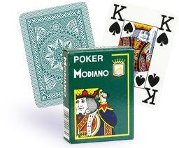 Modiano Karty do gry 483  poker Cristallo, 4 wskaźniki zielone