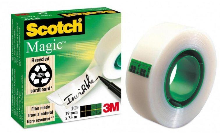 Taśma biurowa samoprzylepna matowa SCOTCH Magic (19 mm x 33m) (MV 810)